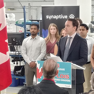 Synaptive Medical hosts Government of Canada's student work placement funding program announcement