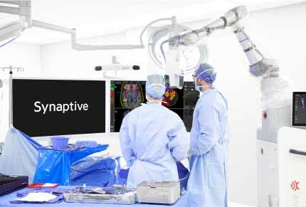 surgeons looking at monitors