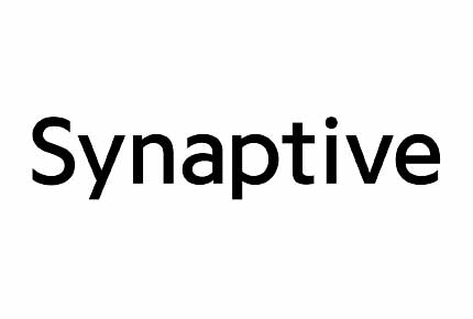 Synaptive in black on white background
