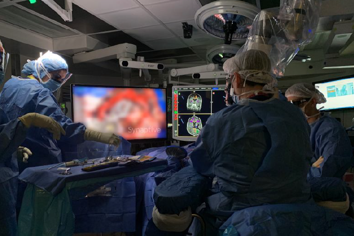 operating room during cranial surgery